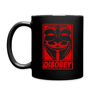 Anonymous Disobey Red - Full Color Mug