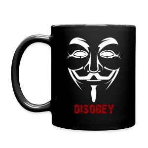 Anonymous Disobey Black - Full Color Mug