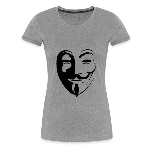 Anonymous Face Round - WOMEN - Women's Premium T-Shirt
