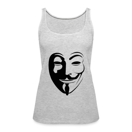 Anonymous Face Round - WOMEN - Women's Premium Tank Top