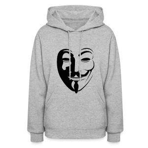Anonymous Face Round - WOMEN - Women's Hoodie