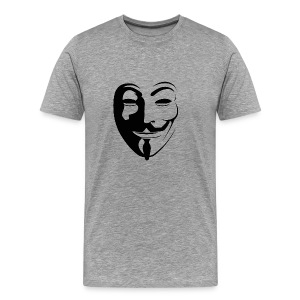 Anonymous Face Round - MEN - Men's Premium T-Shirt