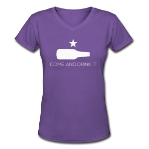 Come and Drink It Women's V-Neck - Women's V-Neck T-Shirt