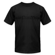 T-Shirts ~ Men's T-Shirt by American Apparel ~ Blackout mellowvision