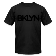 T-Shirts ~ Men's T-Shirt by American Apparel ~ BKLYN Blackout Edition