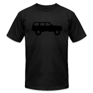 T-Shirts ~ Men's T-Shirt by American Apparel ~ Jeep Cherokee Blackout Edition