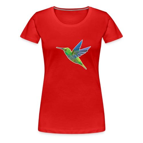 Humming bird low polygon Women's T-Shirts - Women's Premium T-Shirt