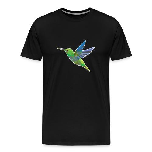 Humming bird low polygon T-Shirts - Men's Premium T-Shirt