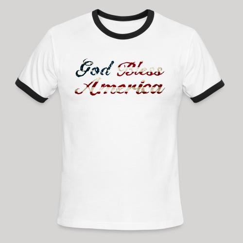 God Bless America - Men's Ringer T-Shirt