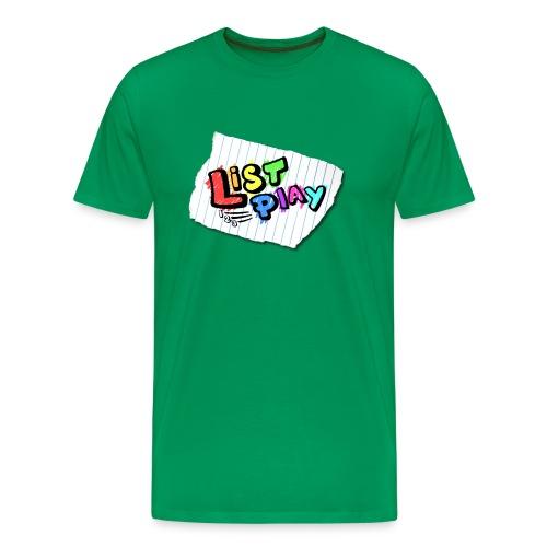 List Play Logo Shirt - Men's Premium T-Shirt
