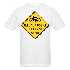 Caution: Full Lane - Men's T-Shirt