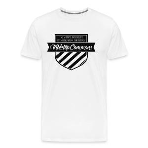 Tabletop Commons Shield T-Shirt - Men's Premium T-Shirt