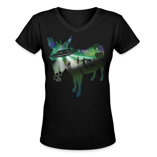 Scent of a Mule - Women's V-Neck T-Shirt