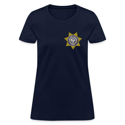 Secret Police Shhh! Badge f - Women's T-Shirt