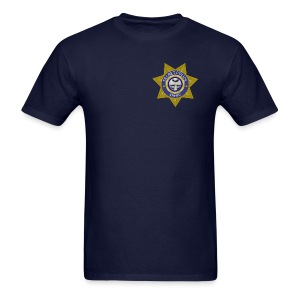 Secret Police Shhh! Badge - Men's T-Shirt
