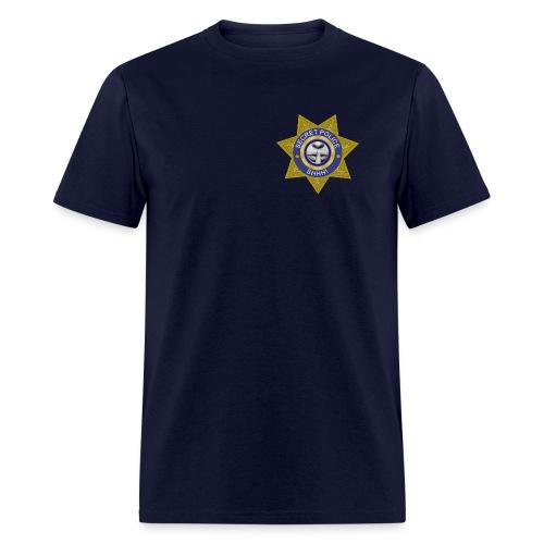 Secret Police Shhh! Badge - Men's T-Shirt