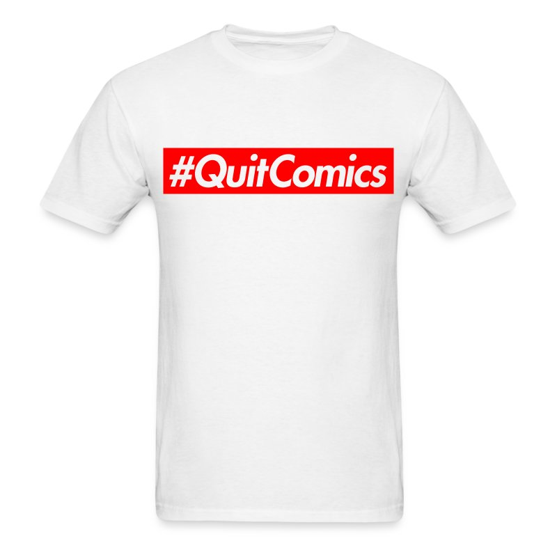 #QUITCOMICS (for the bros) - Men's T-Shirt