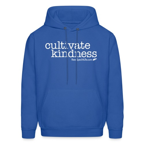 Cultivate Kindness White Logo Men's Hodded Sweatshirt - Men's Hoodie