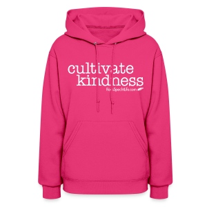 Cultivate Kindness White Logo Women's Hodded Sweatshirt - Women's Hoodie