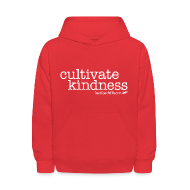 Sweatshirts ~ Kids' Hoodie ~ Cultivate Kindness White Logo Kid's Sweatshirt