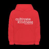 Sweatshirts ~ Kids' Hoodie ~ Cultivate Kindness White Logo Kid's Sweatshirt