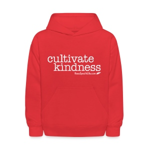 Cultivate Kindness White Logo Kid's Sweatshirt - Kids' Hoodie