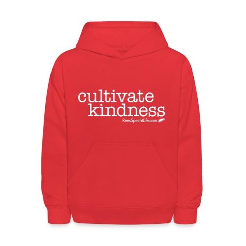 Cultivate Kindness White Logo Kid's Sweatshirt - Kids' Hoodie