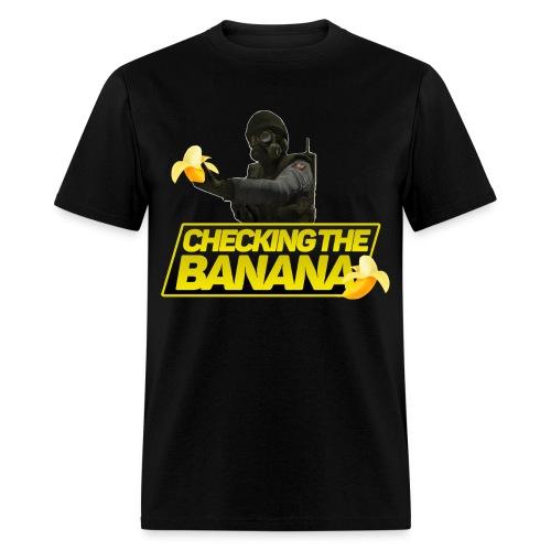 Checking The Banana - Men's T-Shirt