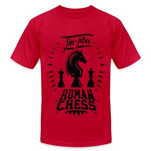Human Chess Jiu Jitsu Shirt (B) - Men's Fine Jersey T-Shirt