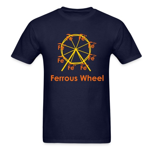 Ferrous Wheel Text - Men's T-Shirt