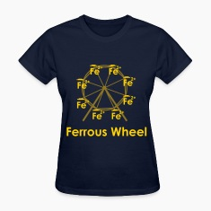 Ferrous Wheel (with text) Women's T-Shirts