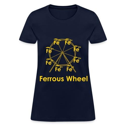 Ferrous Wheel Text - Women's T-Shirt
