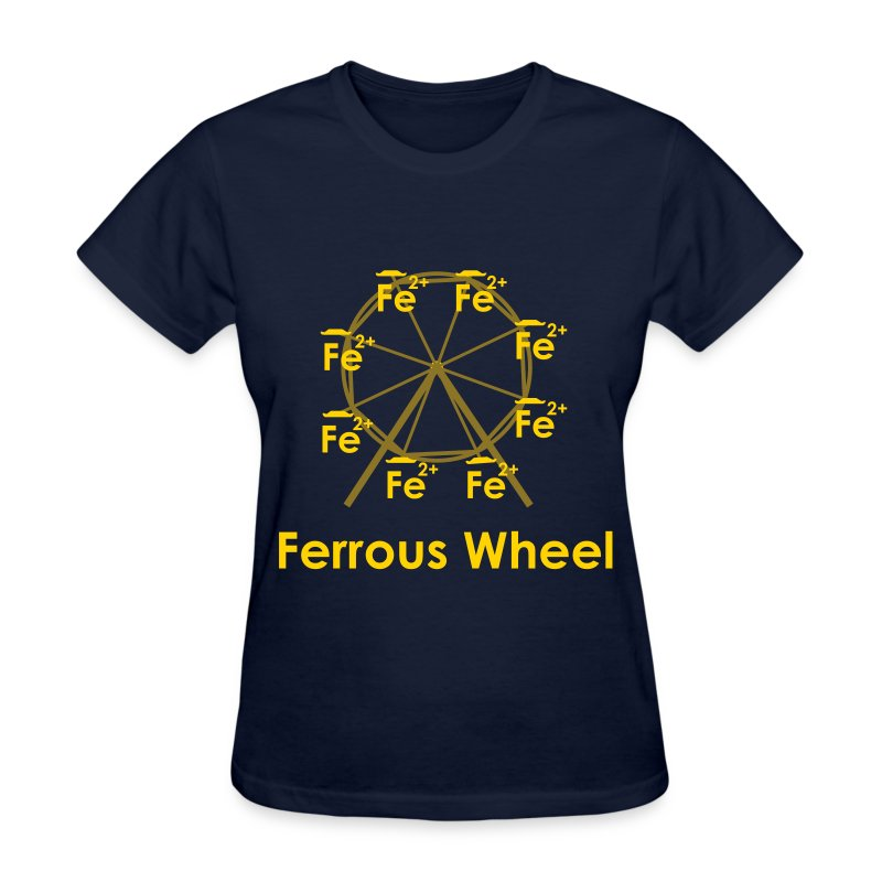 Ferrous Wheel Text - Women's T-Shirt