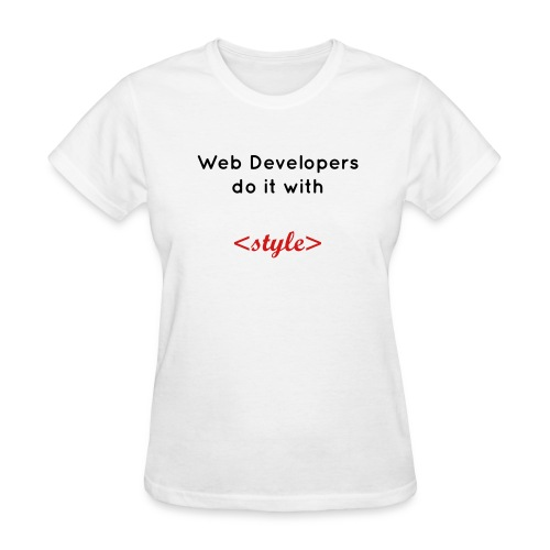 Web developers do it with style - Women's T-Shirt