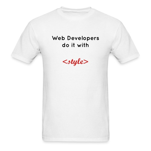 Web developers do it with style - Men's T-Shirt