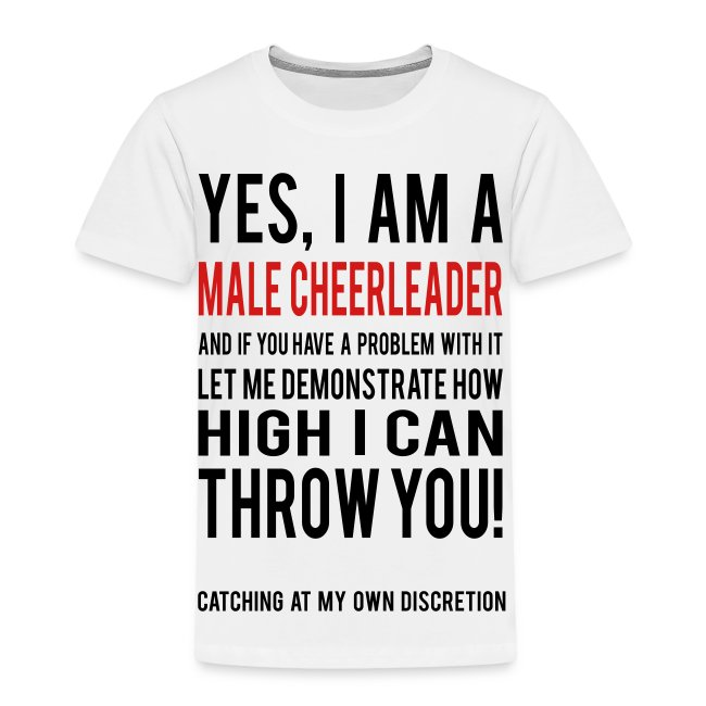 Male Cheerleader Toddlers Shirts