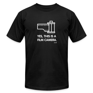 yes, this is Film Camera Premium 100% cotton - Men's T-Shirt by American Apparel