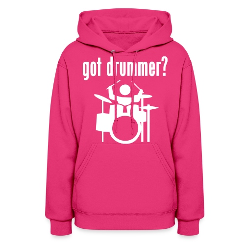 Womens Hoodie | Greg Collister | Got Drummer (Front) Stick to Your Dreams (Back) - Women's Hoodie