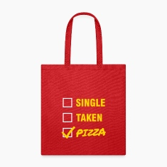 Single / Taken / Pizza - Funny & Cool Statment Bags & backpacks