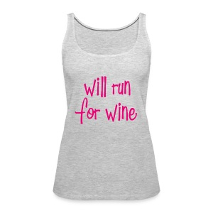 will run for wine tank - Women's Premium Tank Top