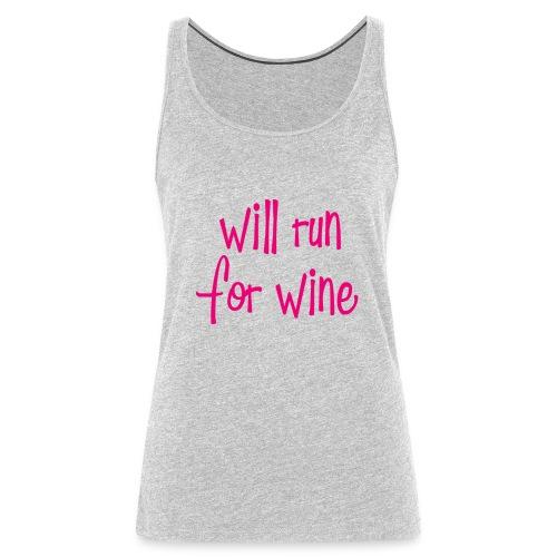 will run for wine tank - Women's Premium Tank Top