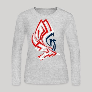 All American Eagle - Women's Long Sleeve Jersey T-Shirt
