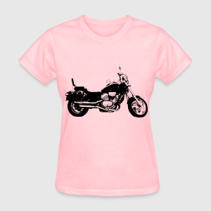 motorcycle, black and white - Women's T-Shirt