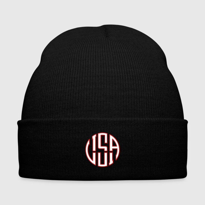 USA ideogram Caps - Knit Cap with Cuff Print