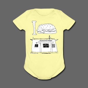 I Hamburger Greene's - Short Sleeve Baby Bodysuit