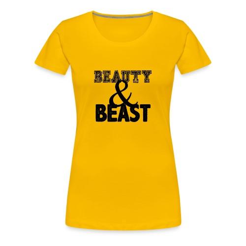Beauty & Beast | Womens tee - Women's Premium T-Shirt