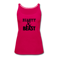 Tanks ~ Women's Premium Tank Top ~ Beauty & Beast | Womens tank