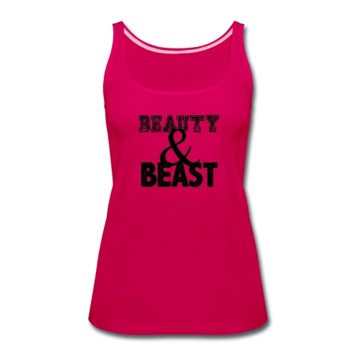 Beauty & Beast | Womens tank - Women's Premium Tank Top