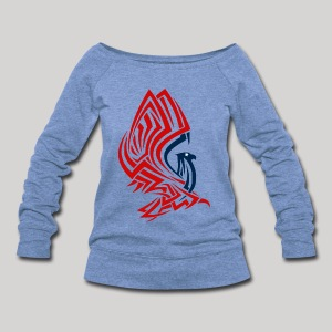 All American Eagle - Women's Wideneck Sweatshirt