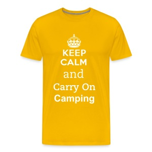 Keep Calm and Carry On Camping T Shirt - Men's Premium T-Shirt